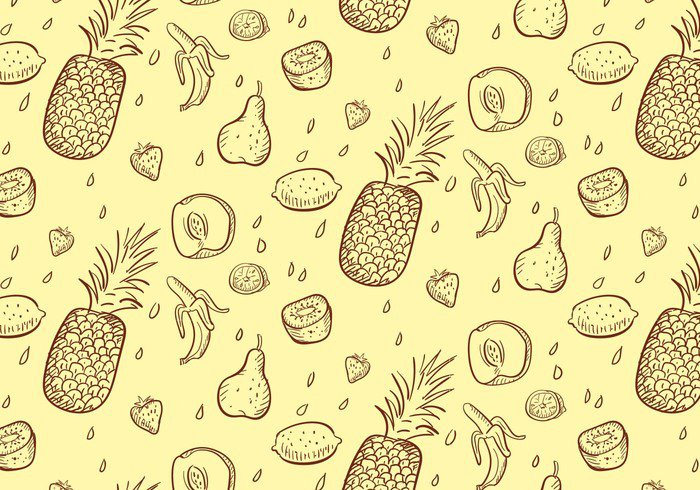 Vector Handmade Fruit Pattern