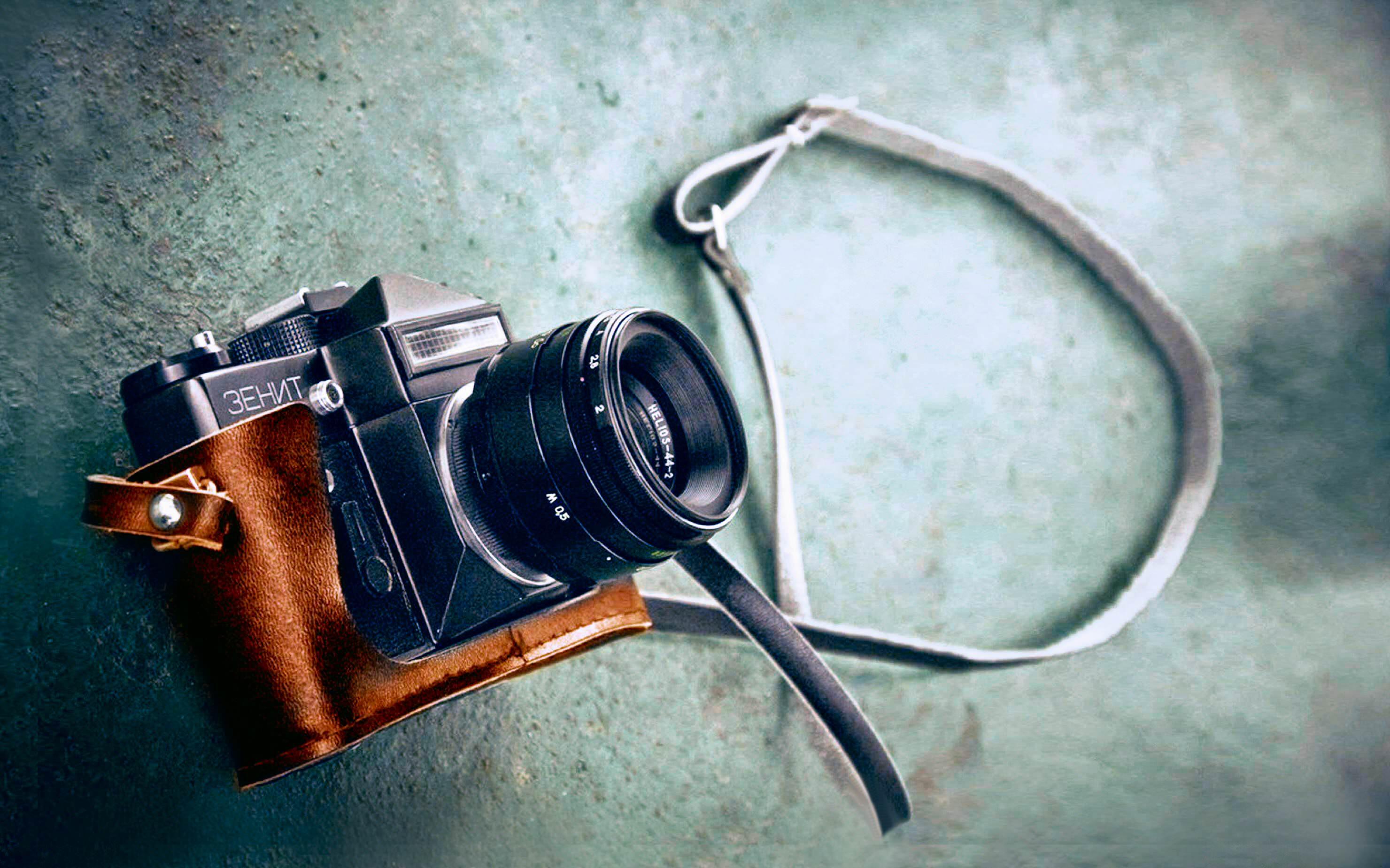 vintage camera lens zenith wallpaper