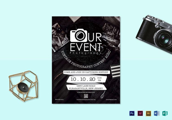 Vintage Event Photography Flyer Template