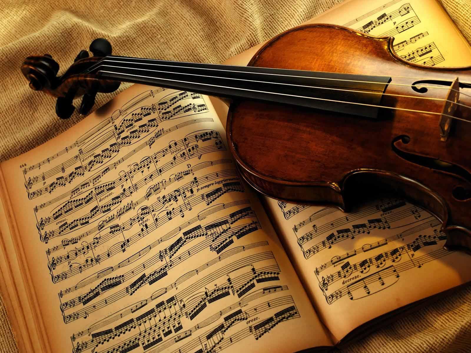 Violin Musical Instrument Wallpaper