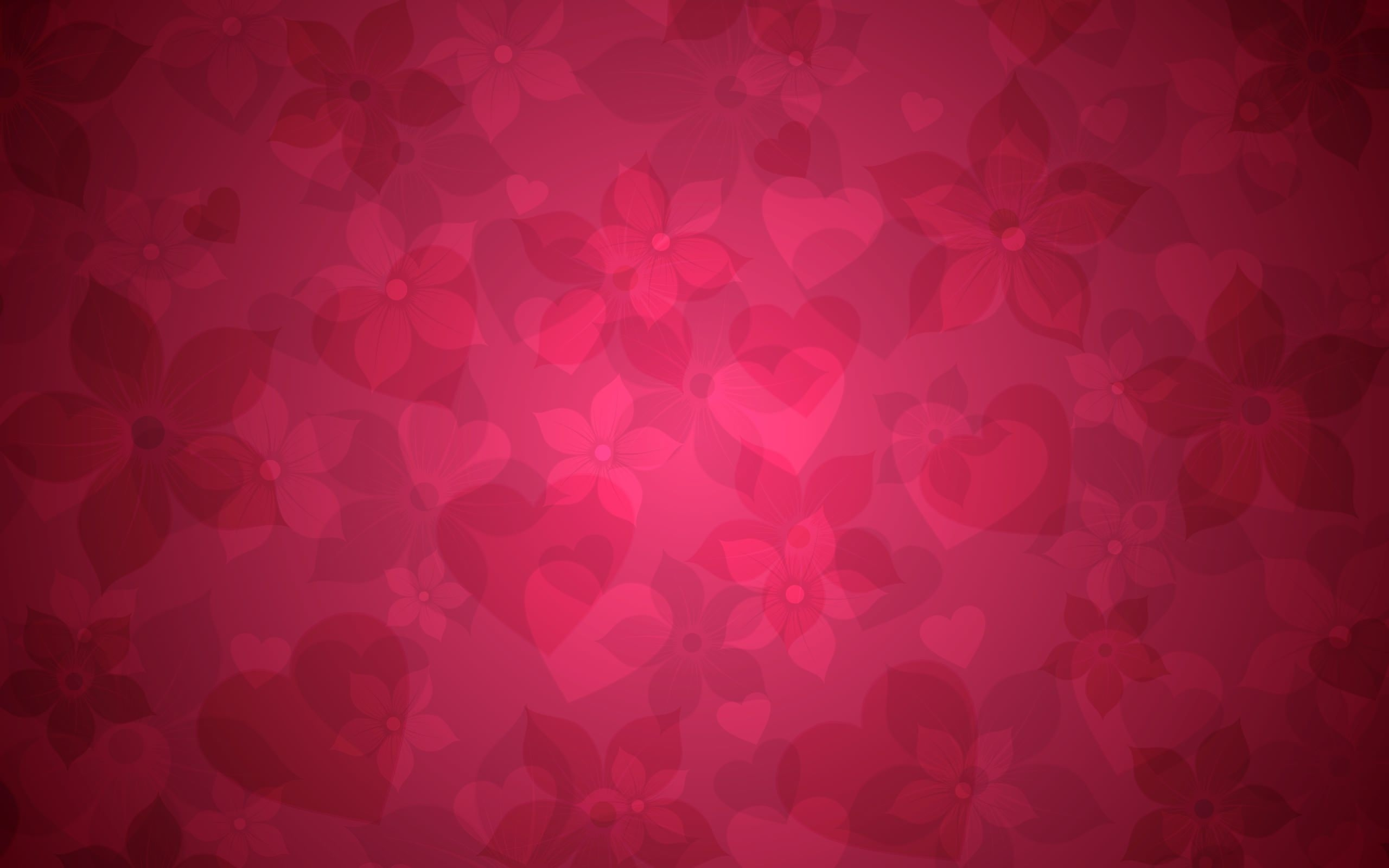 Vivid Heart Background Graphic