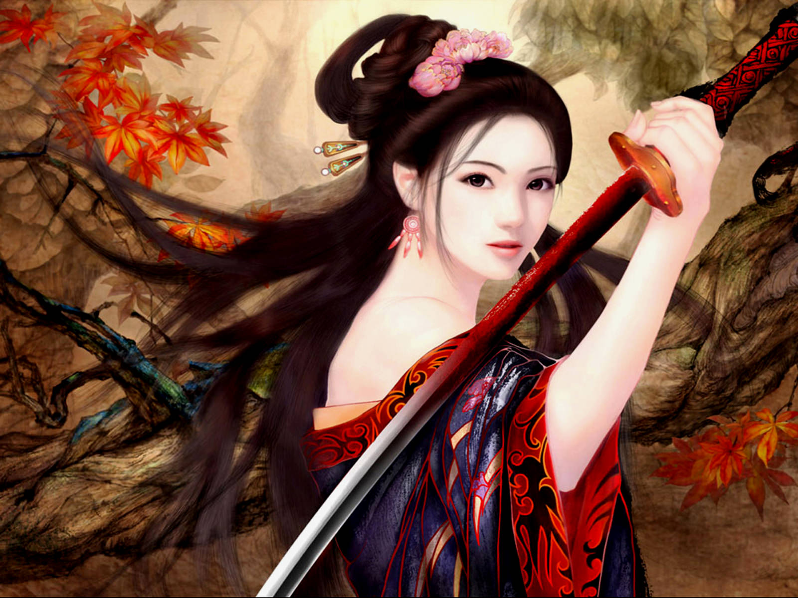 Warrior Women Fantasy Wallpaper