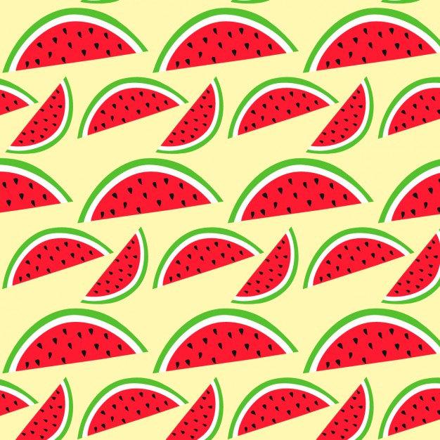 Watermelon Fruit Pattern Free Vector
