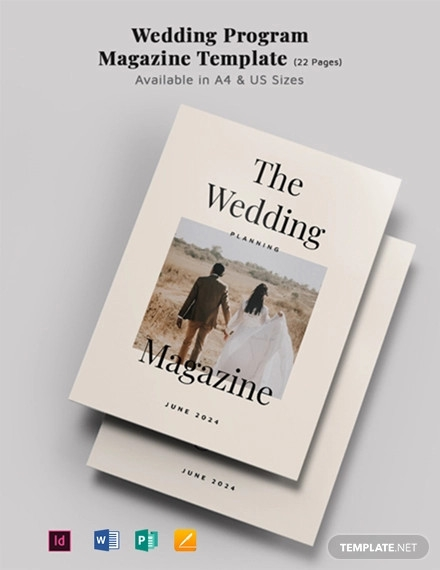 wedding program magazine template