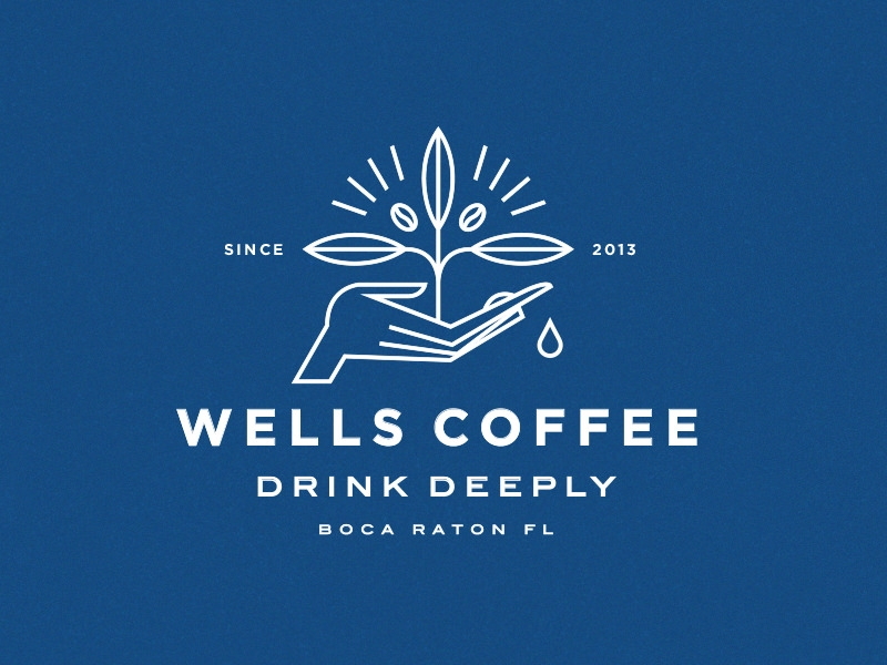 Wells Coffee Plant Logo Design