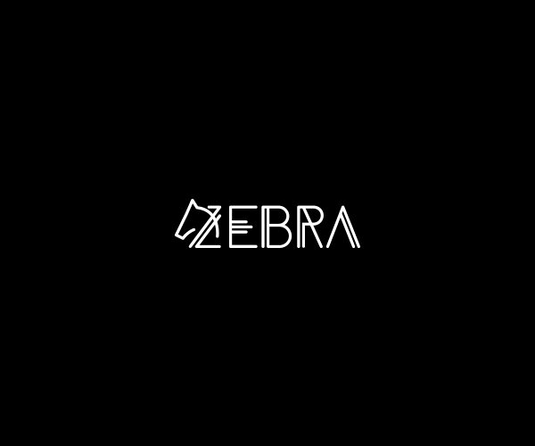 White Black Stripes Zebra Logo