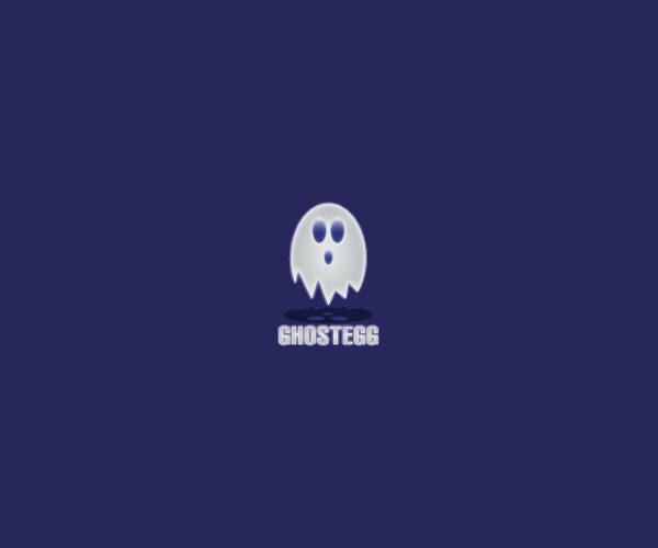White Ghost Egg Logo