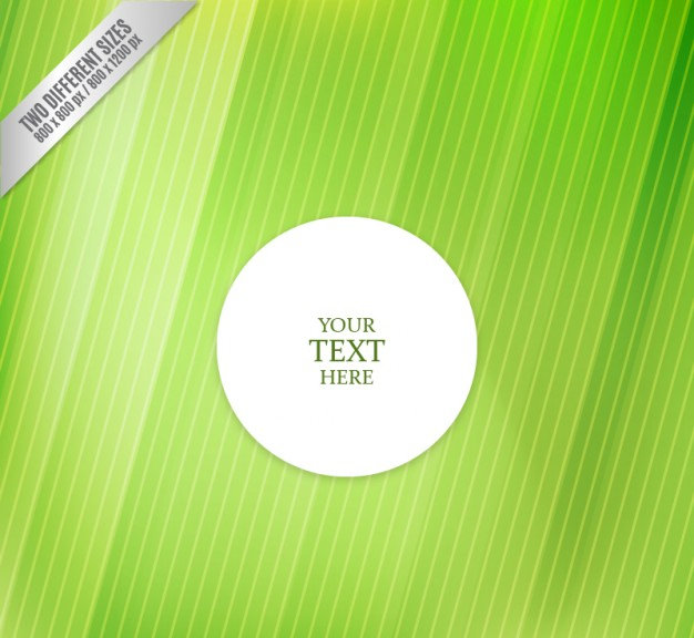 White Label on Green Textured Background