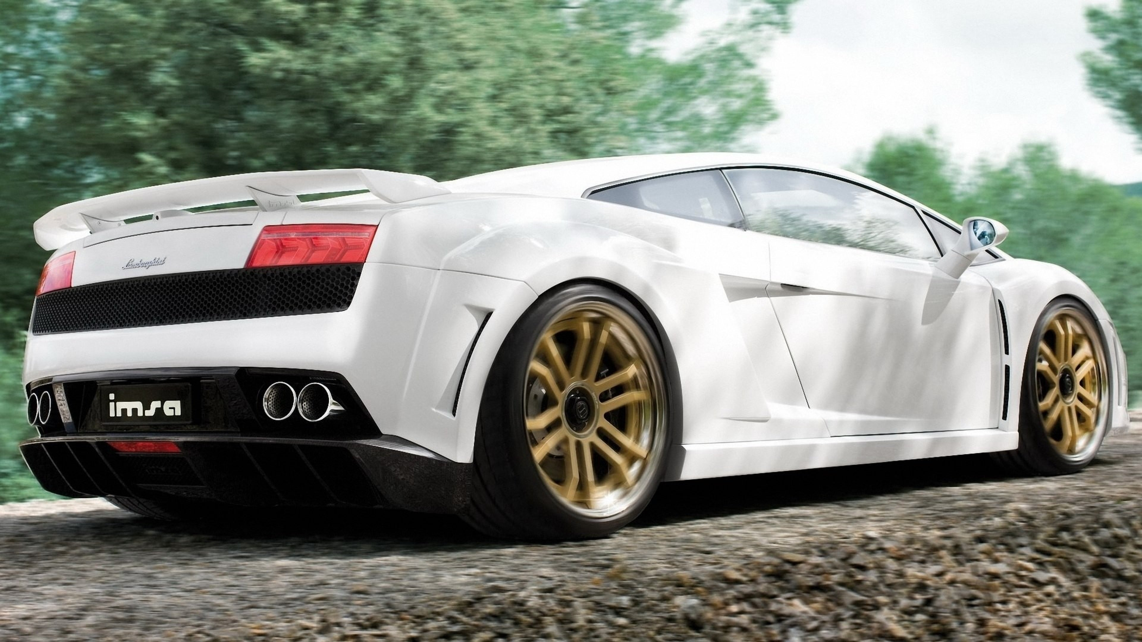 White Lamborghini Wallpaper