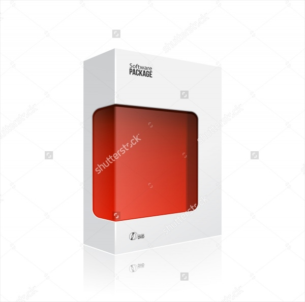 white modern software product package box