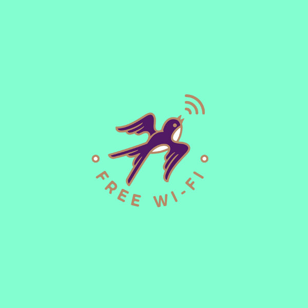 Wifi Gold Bird Logo