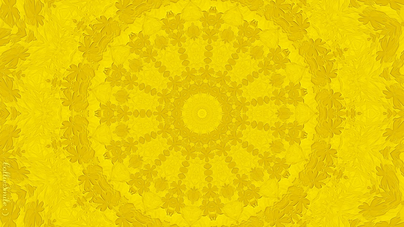 Youthful Yellow Abstract Wallpaper