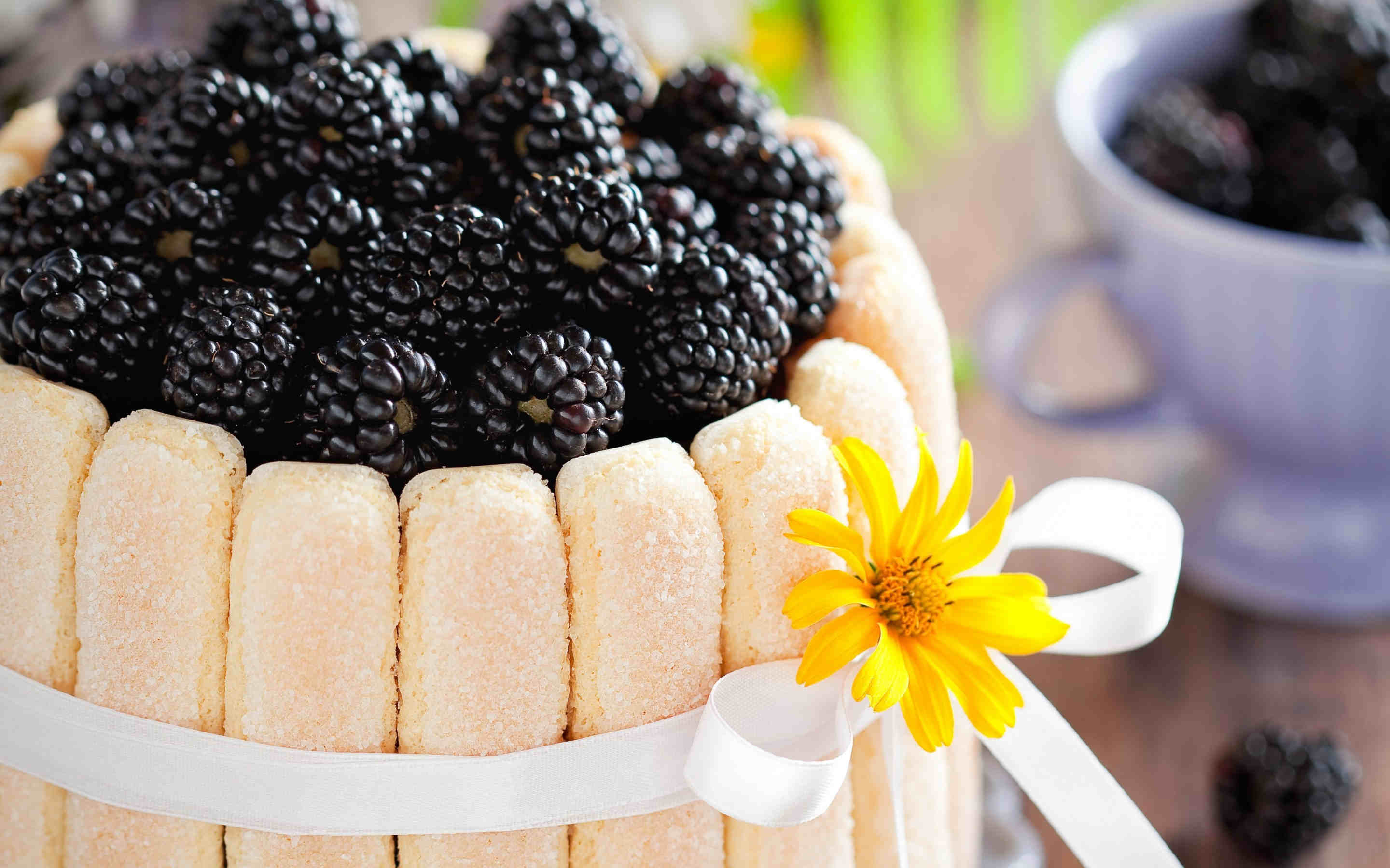 Yummy Blackberry Food Wallpaper