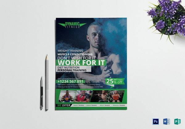 zumba fitness flyer template 600x420