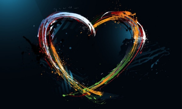 heart Abstract Art Wallpaper