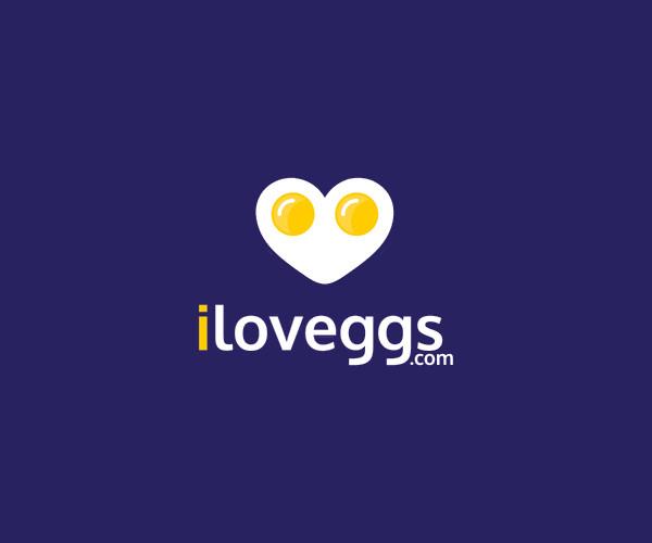 heart Domain Egg Logo