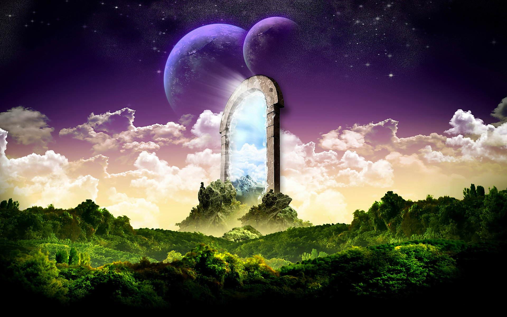 landscape Stars Magical Background