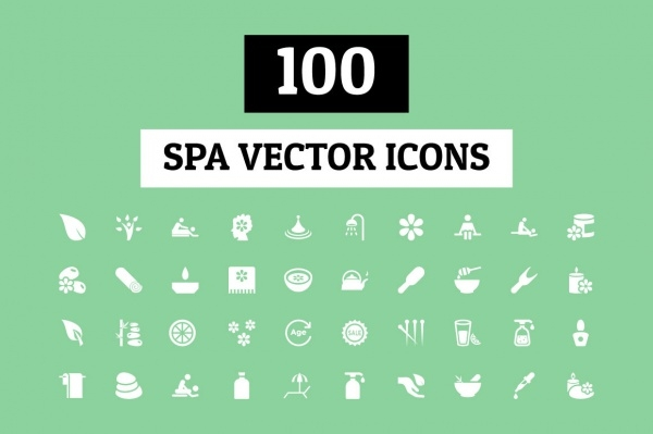 100 Spa Vector Icons