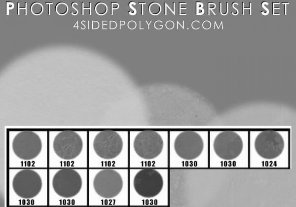 11 high resolution stone brushes