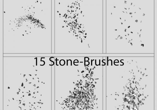 15 stone or pebble brushes