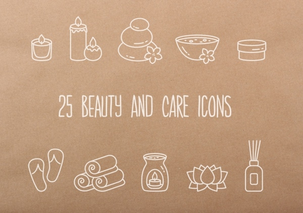 25 Beauty and Care icons