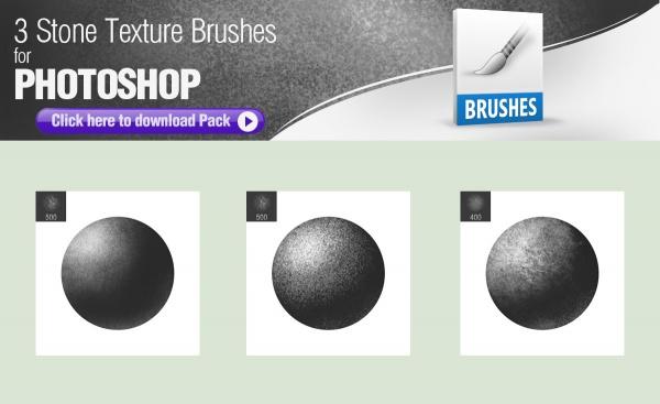 3 Stone Texture Brushes