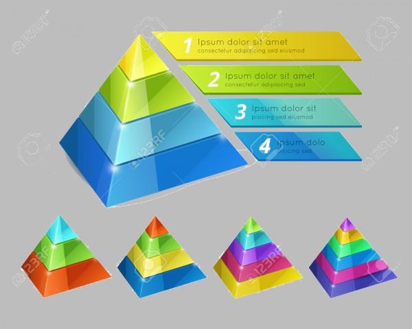 3D Pyramid chart Presentation Template