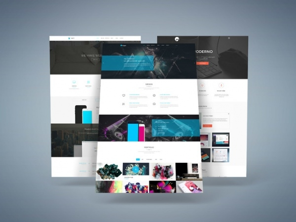 3D Web Presentation Design Template