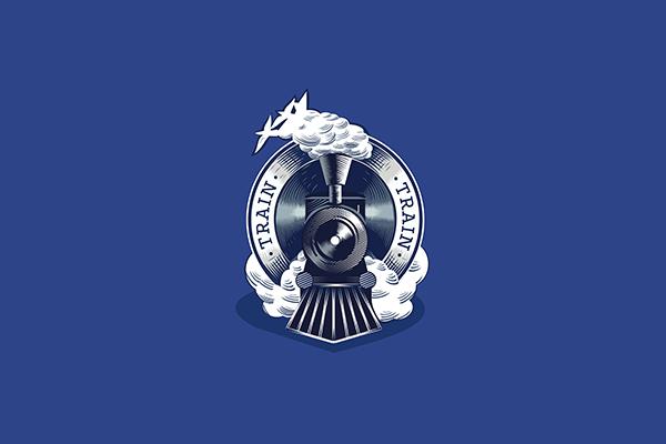 Amazing Train Emblem Logo