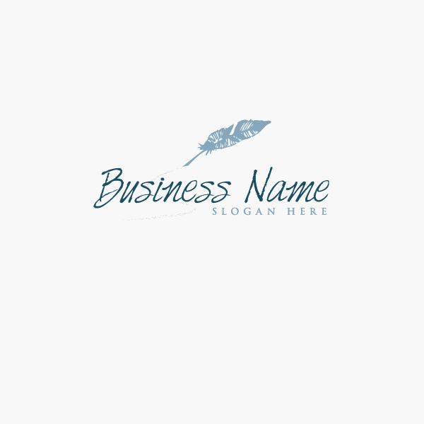 artistic feather logo design