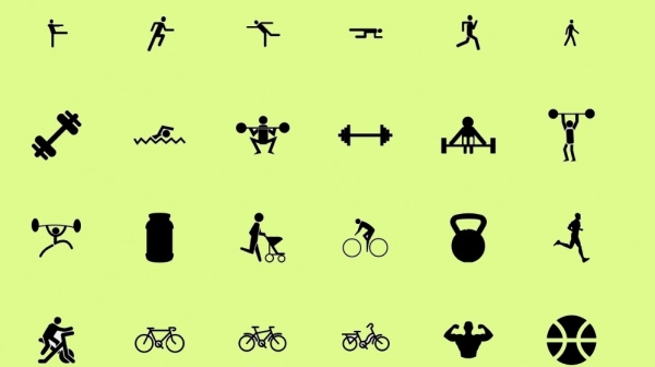 Awesome Cool Fitness Icons