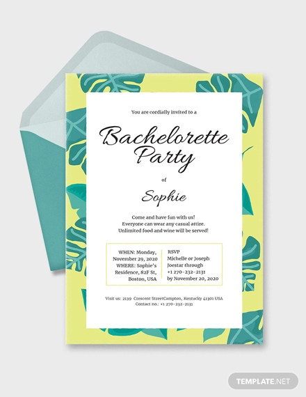 bachelorette invitation design