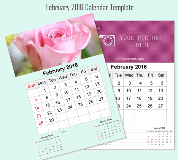 Beautiful Flower Wall Design Calendar