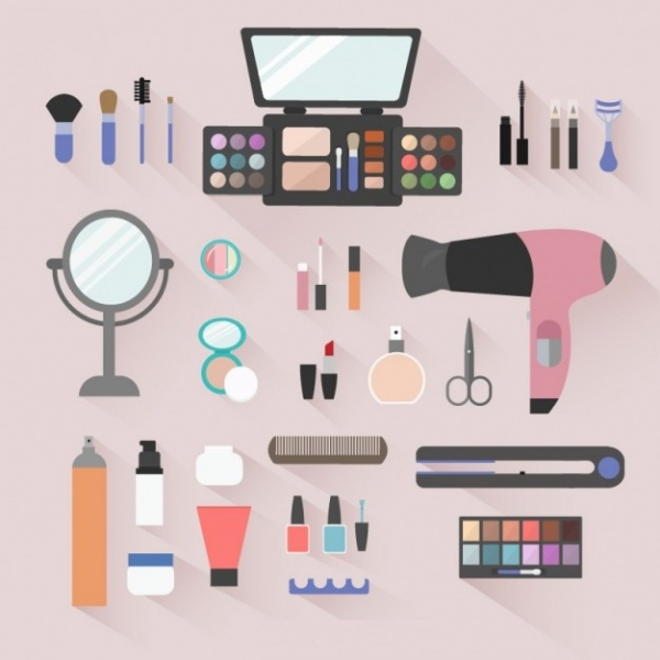 Beauty Salon Objects Icons