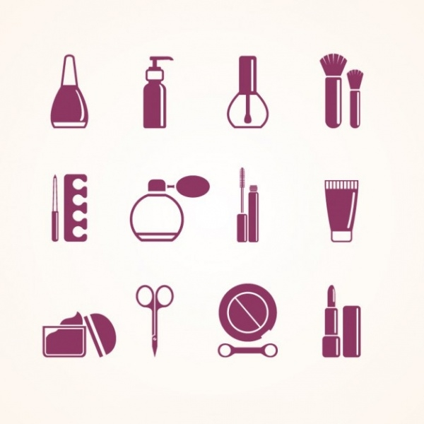 Beauty salon elements Icons