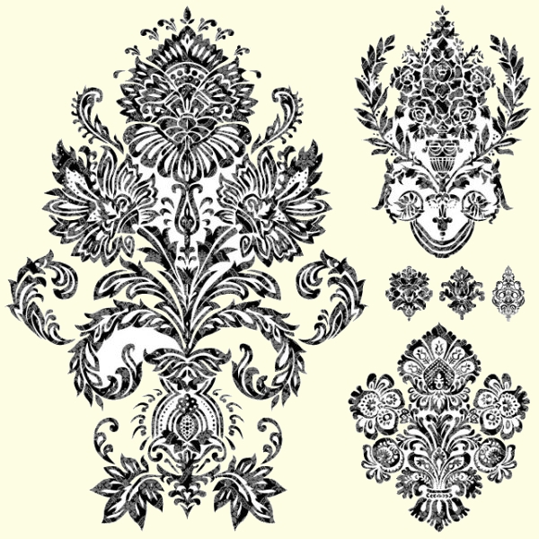 Black and white Decorative pattern