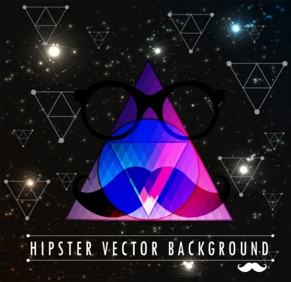 Blue Triangle Hipster Background
