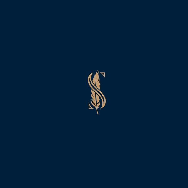 branding identity feather logo