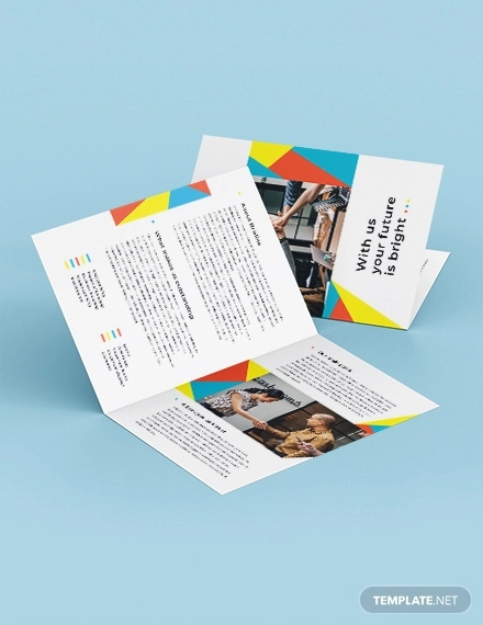 business banking bi fold brochure template