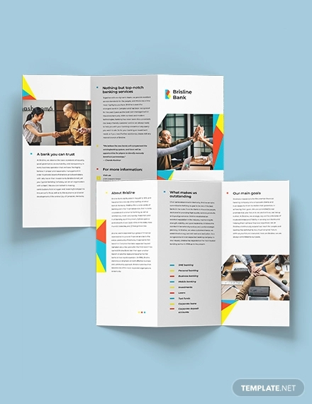 business banking tri fold brochure template