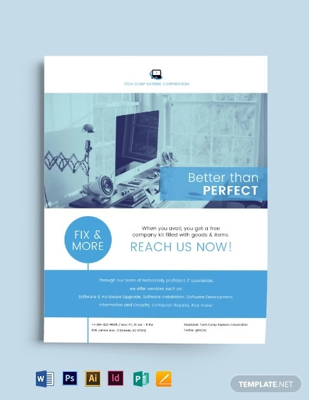 business computers flyer template