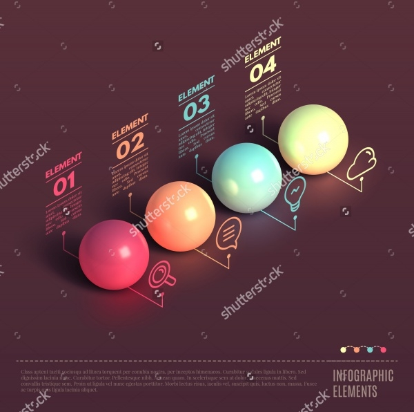 Business Infographics Ball 3D Presentation