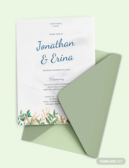 calligraphy wedding invitation template