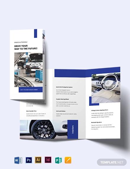car detailing tri fold brochure template