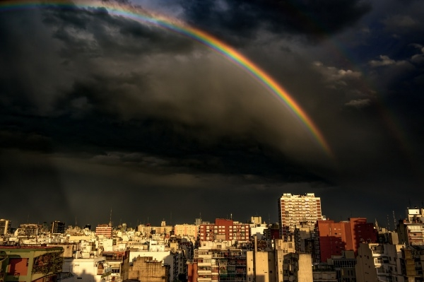 City Night Rainbow Photography