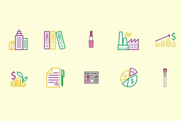 Colorful Beauty Icons