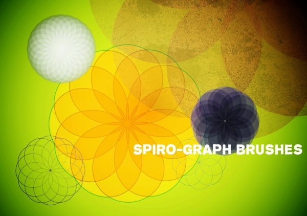 Colorful Cool Spirograph Brushes