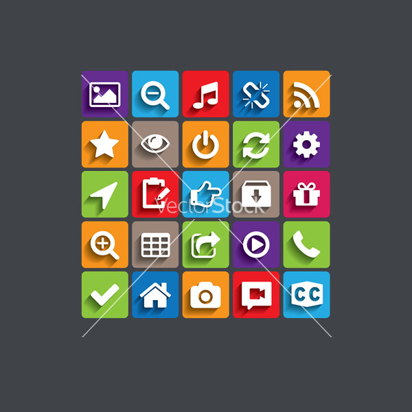 Colorful Trendy Icons