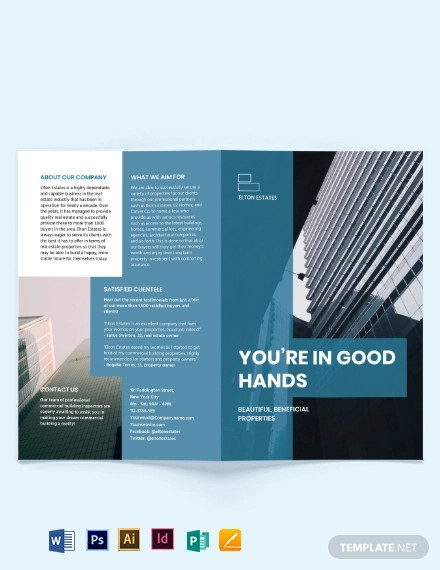 commercial building inspector bi fold brochure template
