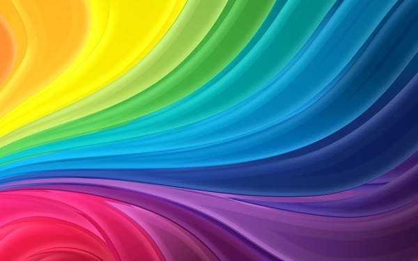 Cool Wavy Rainbow Wallpaper